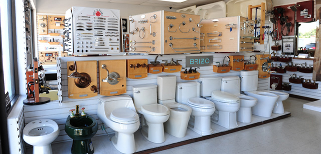 Plumbing Fixtures Parts and Supplies in Our Kendall Showroom