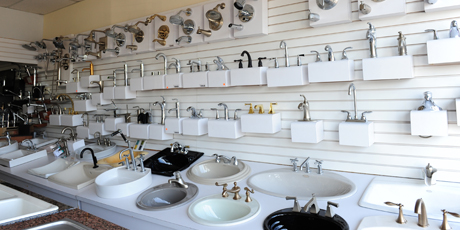 Picture of kitchen and bathroom plumbing fixtures.