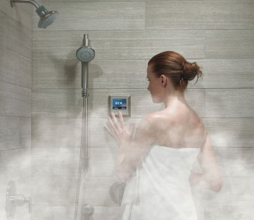 Woman in Steam Shower Miami