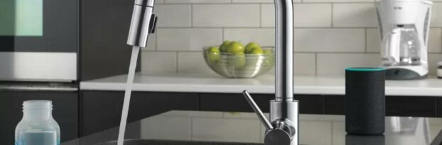 Delta Voice Activated Faucet on display in our Miami plumbing showroom.